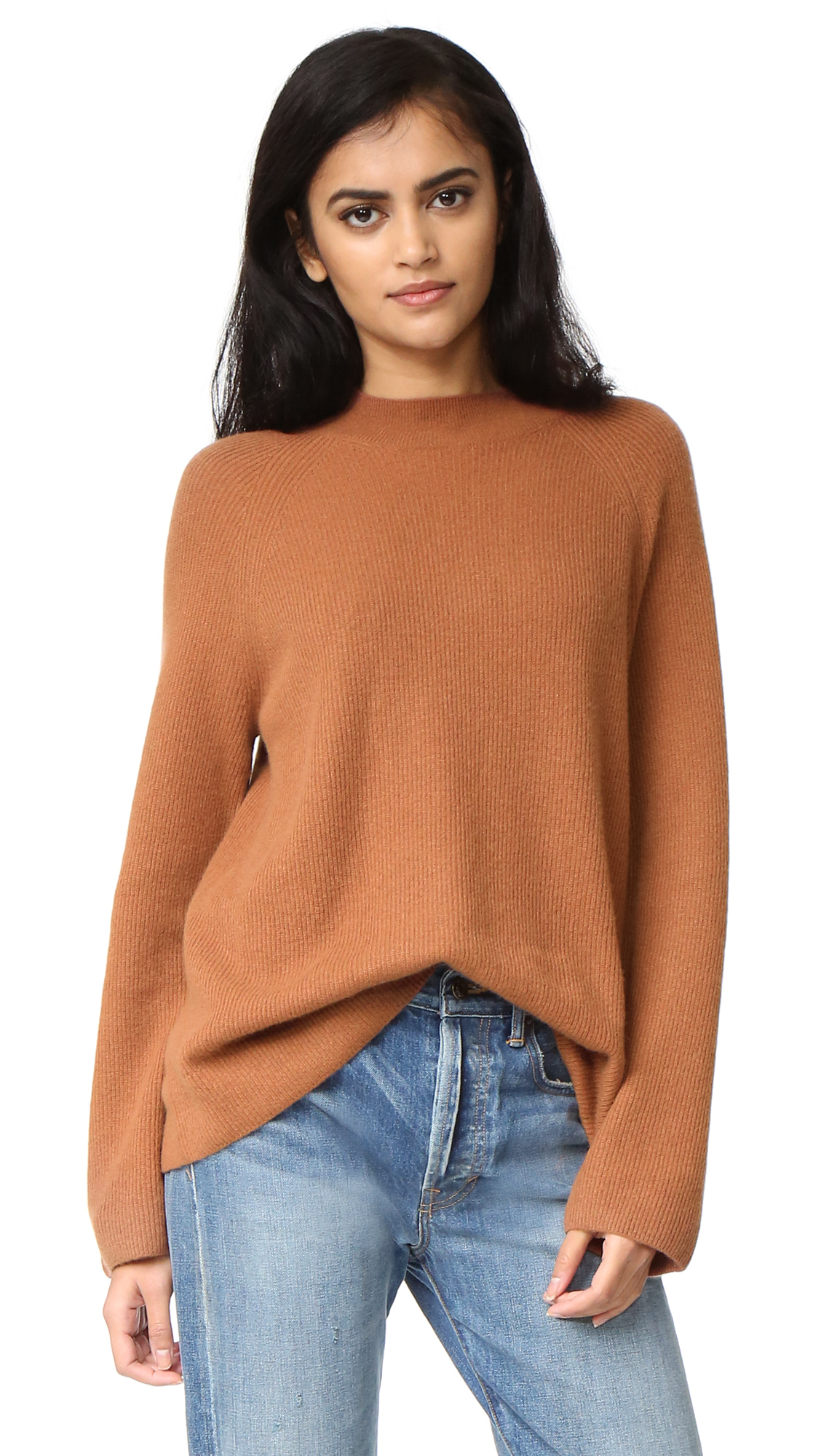 Vince High Crew Sweater - Cinnamon at Shopbop