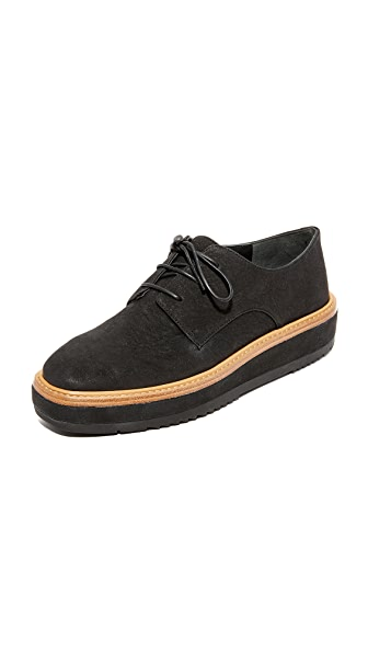 Vince Tanner Platform Oxfords - Black