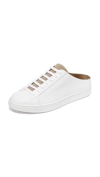 Vince Varley Cutaway Back Sneakers - Optic White/Woodsmoke