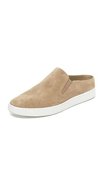 Verrell Fur-Lined Slide Skate Sneaker, Woodsmoke in Neutrals