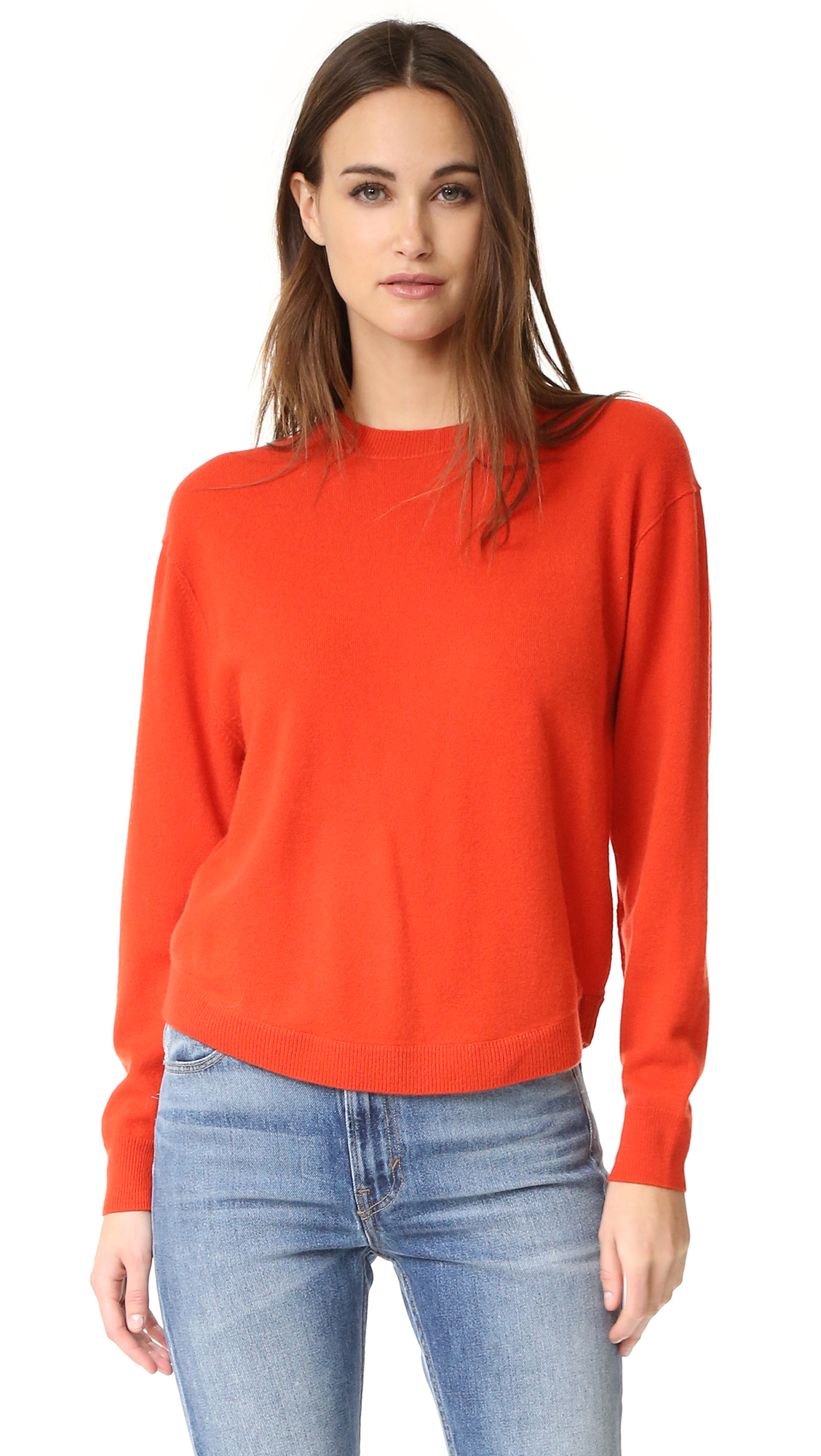 A slouchy Vince sweater in luxe cashmere. Ribbed edges and long sleeves. Fabric: Fine knit. 100% cashmere. Hand wash or dry clean. Imported, China. Measurements Length: 23.25in / 59cm, from shoulder Measurements from size S. Available sizes: L,
