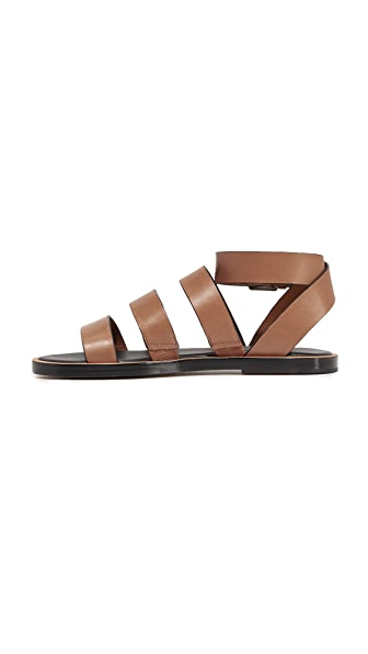 3 Stores In Stock Vince Macey Leather Ankle Strap Sandals