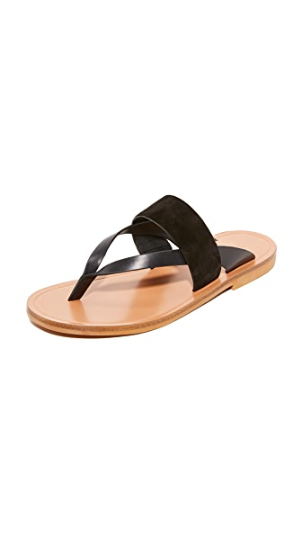 Vince Tess Thong Sandals - Black