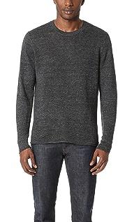 Vince Raw Edge Linen Crew Sweater