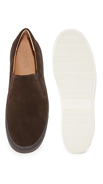 Vince Levi Suede Slip On Sneakers