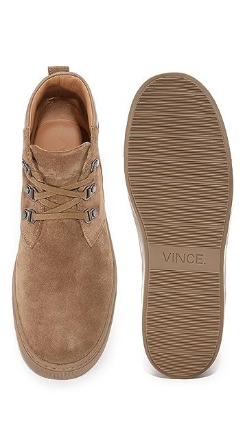Vince Lewis Suede Mid Top Sneakers