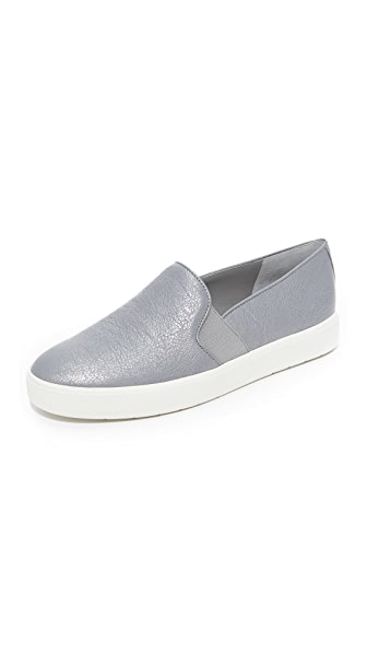 Vince Blair Slip On Sneakers - Gunmetal