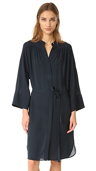 Vince Shirred Shirt Dress at Shopbop