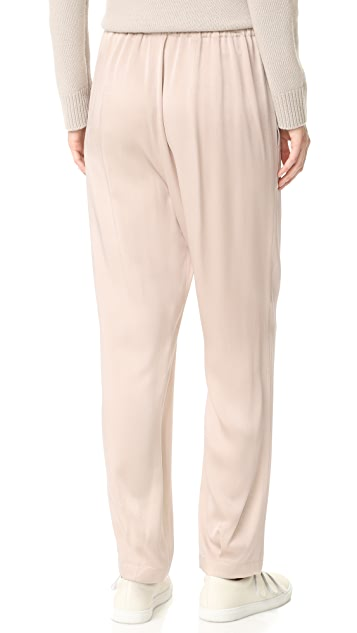 Vince Patch Pocket Pull On Satin Pants