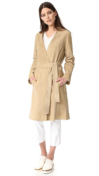 Vince Suede Robe Coat at Shopbop