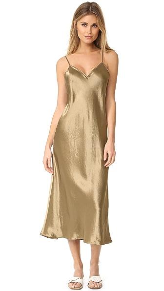 Vince V Neck Slip Dress