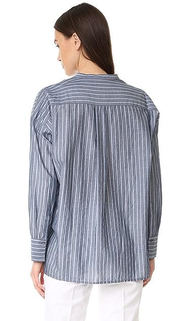 Vince Wide Stripe Pullover Shirt