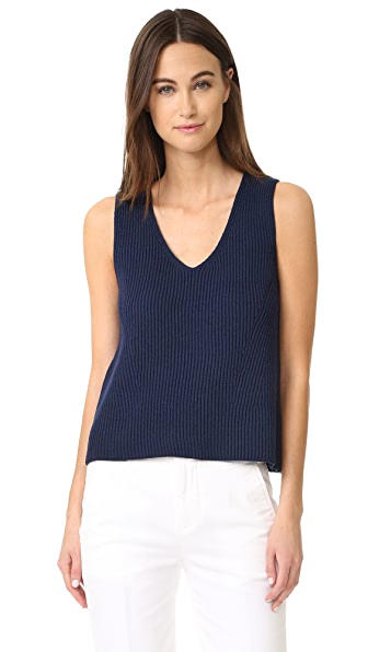 Vince Rib Sweater Tank - Coastal