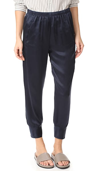 Vince Slim Satin Jogger Pants