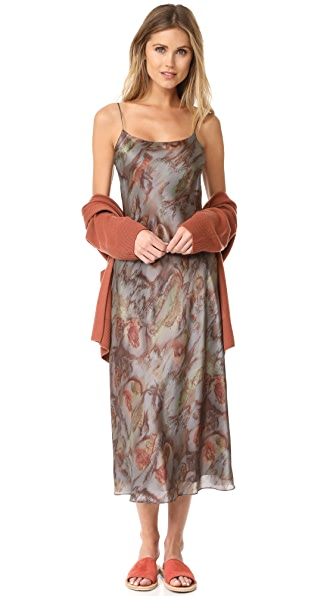 Vince Watercolor Printed Slip Dress