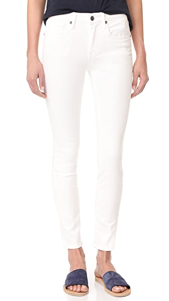 Vince Skinny Ankle Jeans - White