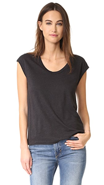 Vince Distressed Muscle Tank