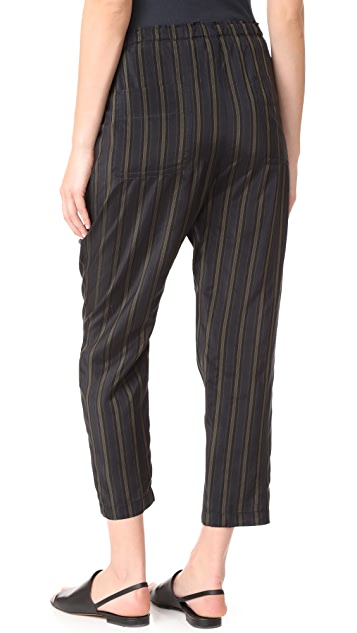 Vince Regiment Stripe Paper Bag Waist Pants