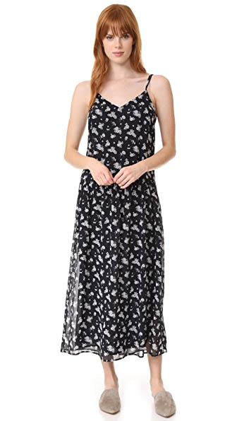 Vince Calico Floral Shirred Waist Dress at Shopbop