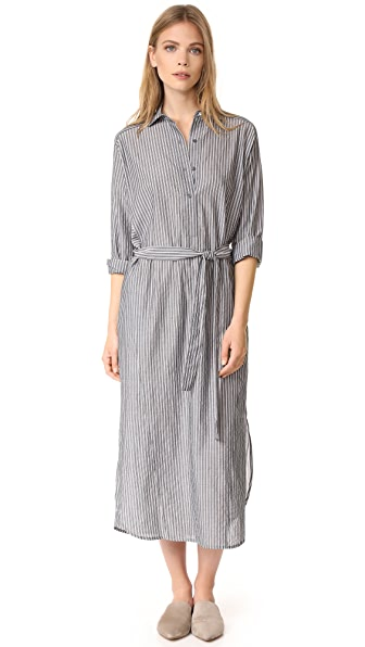 Vince Double Stripe Shirtdress