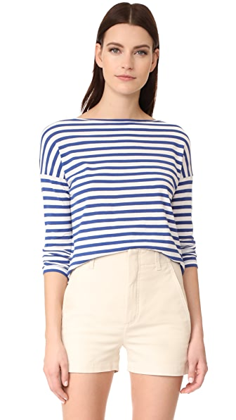 Vince Stripe Boat Neck Pullover