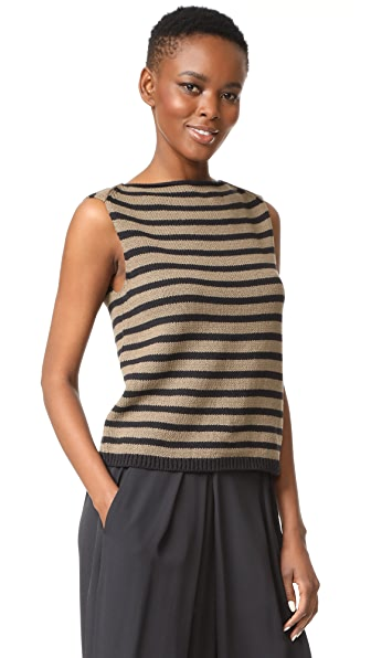 Vince Stripe Cotton Tank