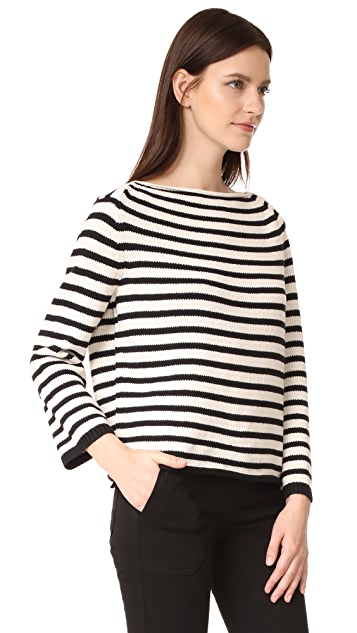 Vince Striped Cotton Pullover