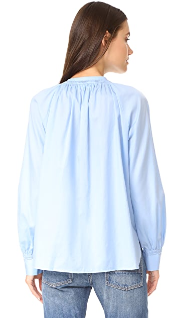Vince Soft Pleated Blouse