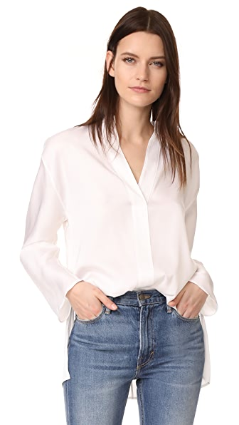 Vince Split Neck Blouse