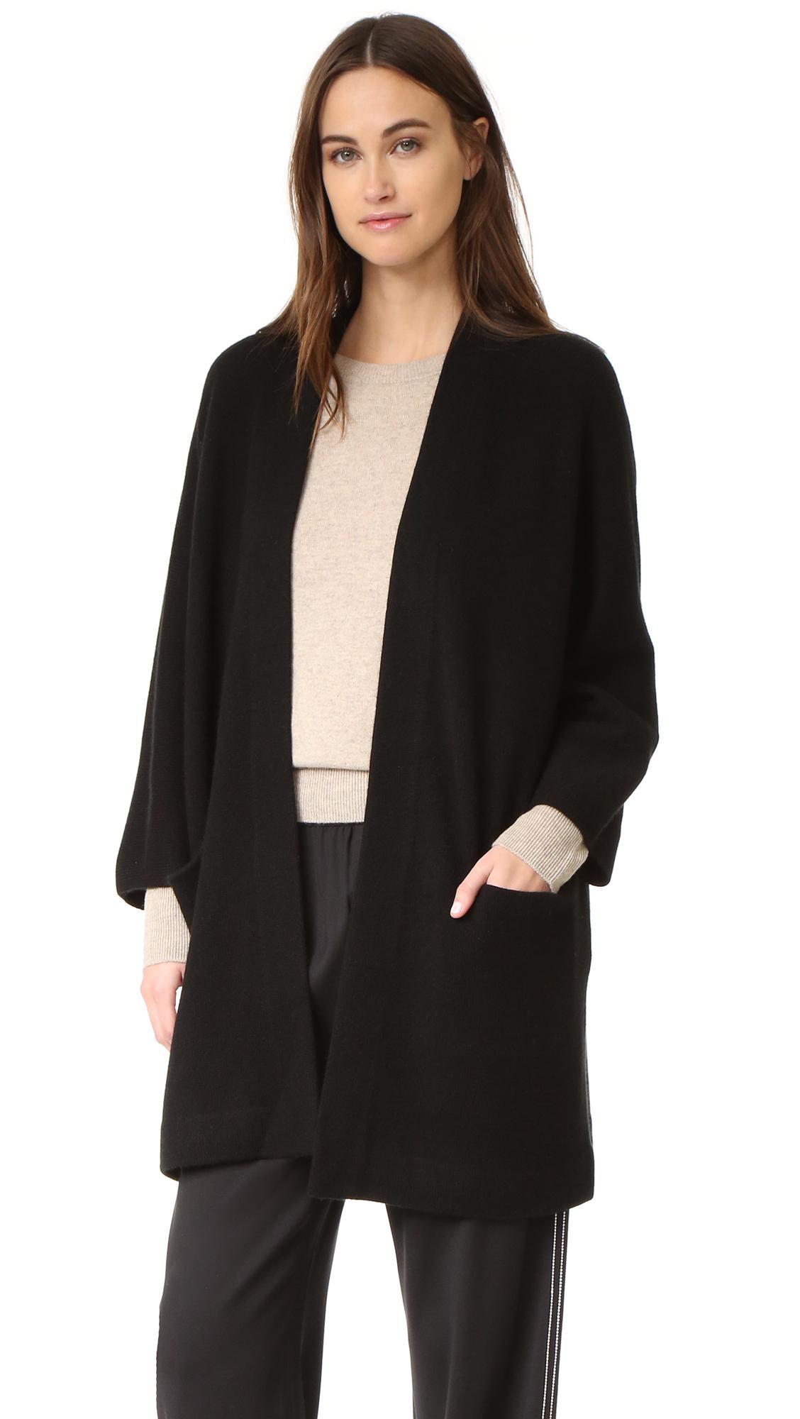 Vince Blanket Cashmere Sweater Coat - Black