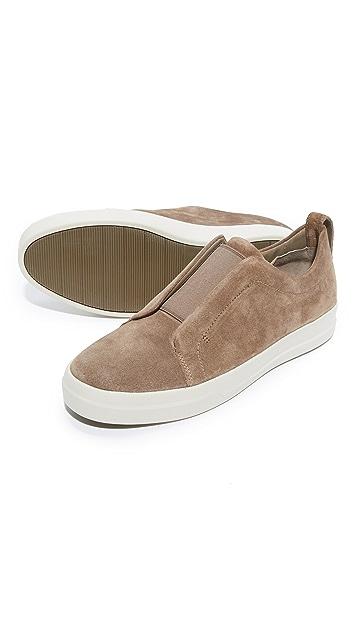 Vince Conway Suede Elastic Gore Slip On Sneakers