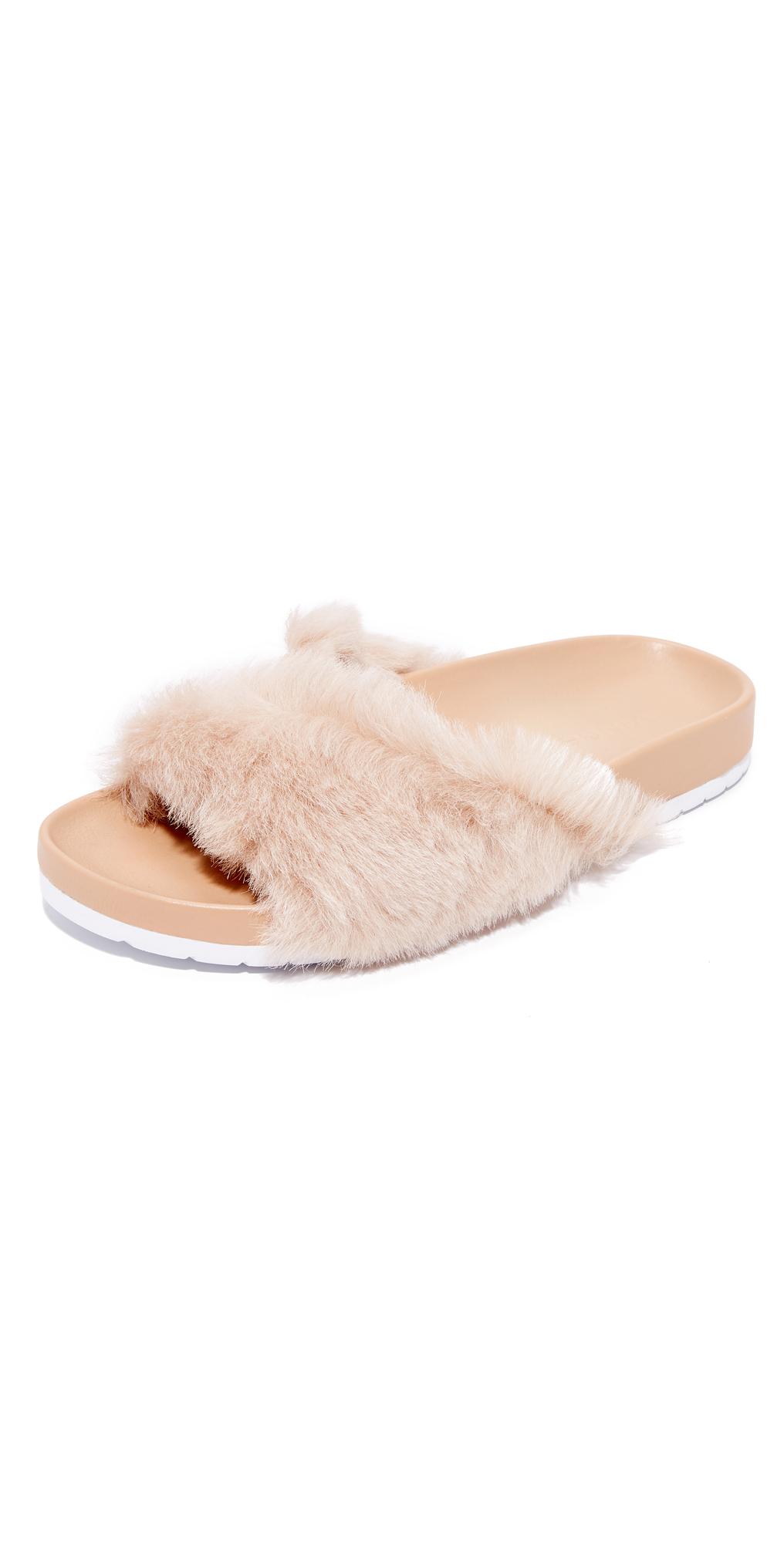 Garrison Fur Slides Vince