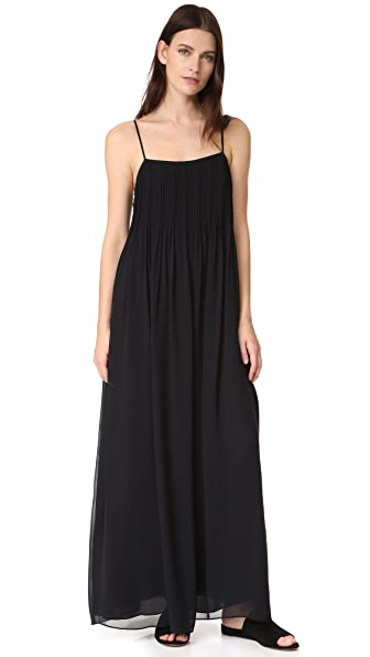 Vince Pintuck Maxi Dress - Black