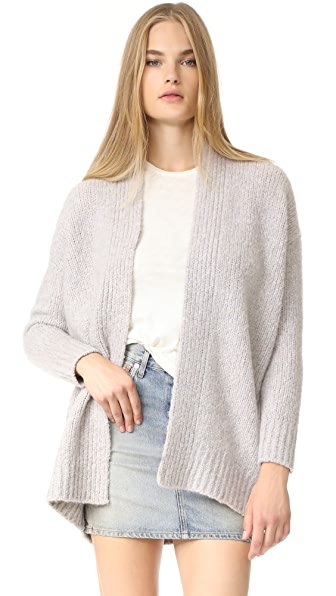 Vince Chunky Cardigan In White Multi