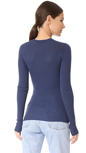 Vince Ribbed Crew Neck Cashmere Sweater
