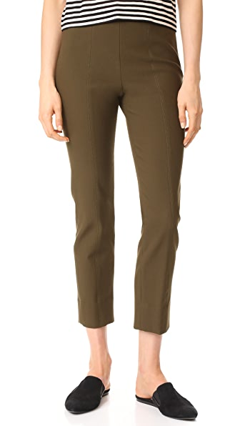 Vince Stitch Front Seam Leggings - Dark Willow