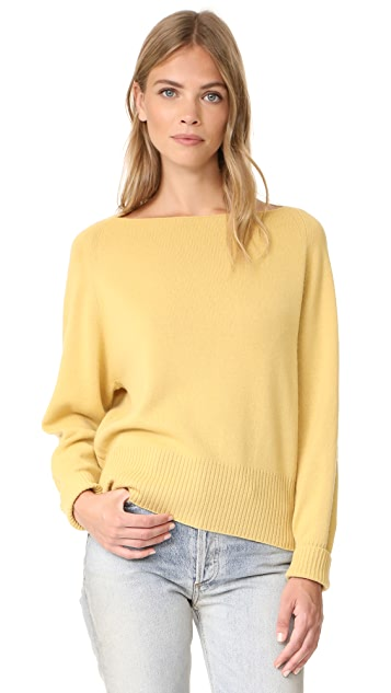 Vince Boat Neck Cashmere Pullover Sweater