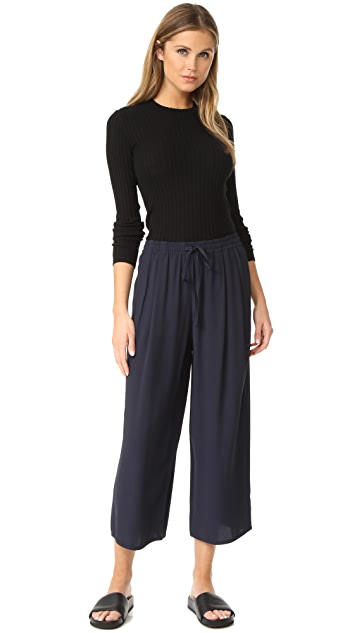 Vince Draped Drawstring Cropped Pants