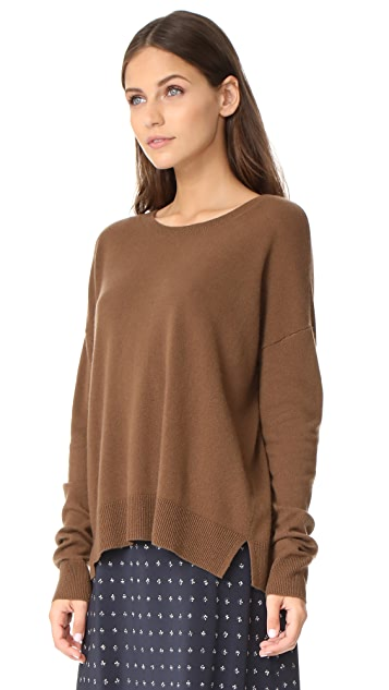 Vince Cropped Wide Neck Sweater