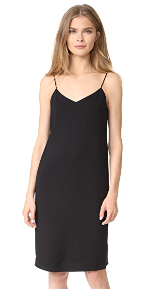 Vince V Neck Cami Dress - Black