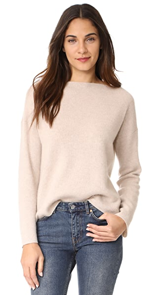 Vince Boxy Cashmere Sweater - Lt H Marzipan