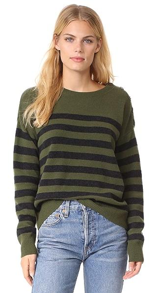 Vince Shoulder Button Cashmere Sweater