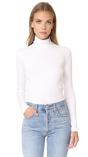 Vince Long Sleeve Turtleneck - White