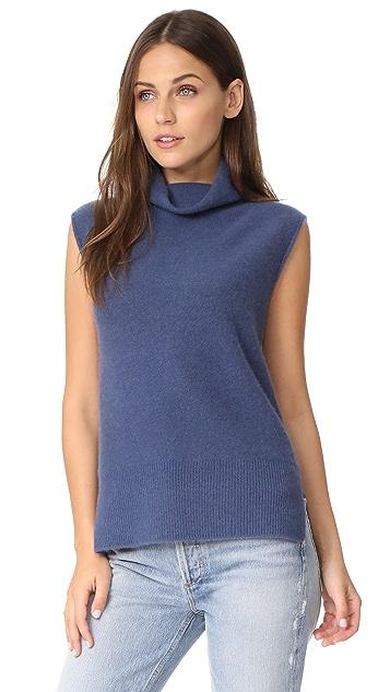 Vince Sleeveless Turtleneck Sweater