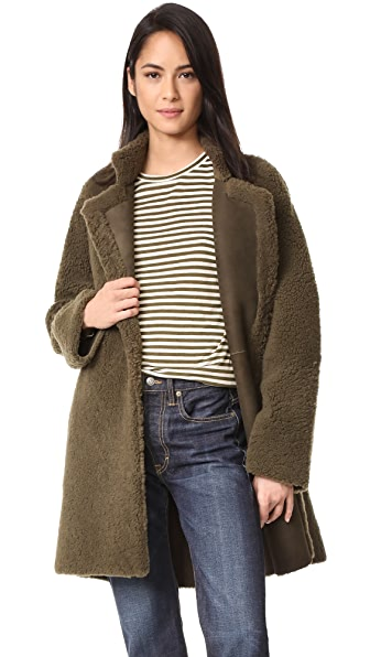 Vince Reversible Teddy Shearling Coat