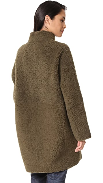 Vince Reversible Teddy Shearling Coat
