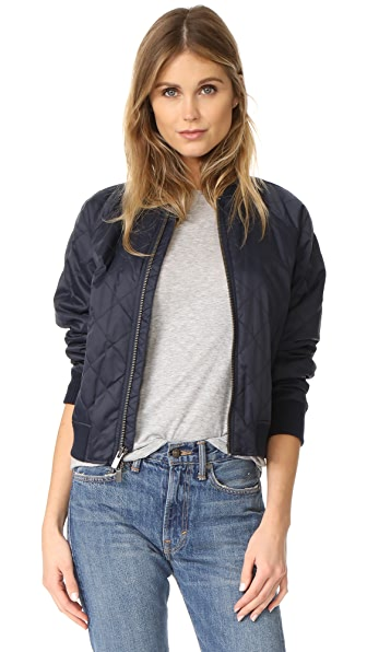Vince Quilted Bomber Jacket - Coastal