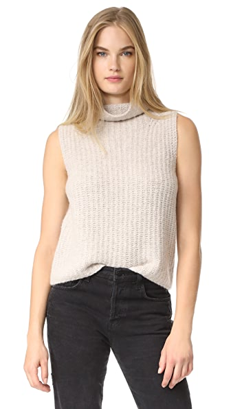 Vince Sleeveless Turtleneck - Hazel