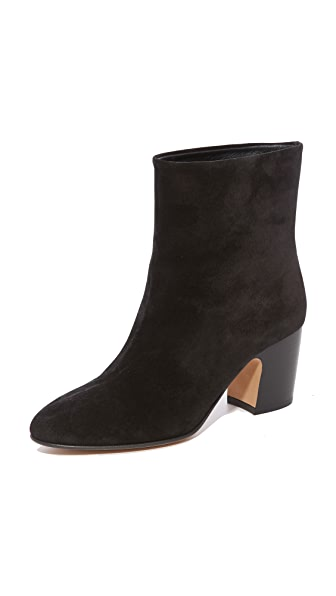 Vince Dryden Low Heel Ankle Booties - Black
