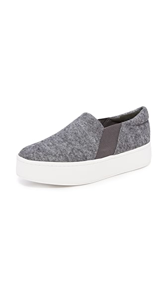 Vince Warren Platform Slip On Sneakers - Pewter